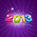 2013 Message colorful background Stock Photo