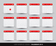 2013 monthly Calendar design for mobile phone. In   format Royalty Free Stock Images
