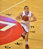 2013 NCAA Basketbal - pas - hoge hoek Royalty-vrije Stock Afbeelding