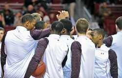 2013 NCAA Men's Basketball - huddle Royalty Free Stock Image