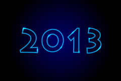 2013 - Neon lights background. 2013 - Neon blue lights background Stock Images