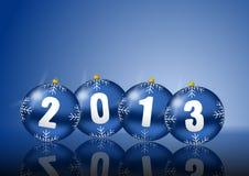 2013 neue Jahre Abbildung mit Weihnachtskugeln Stockbilder