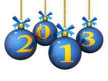2013 neues Jahr-Verzierungen Stockfotografie