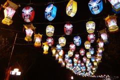 2013-Neujahrsfest-Laternenfestival und -tempel angemessen Lizenzfreie Stockbilder