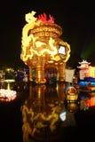 2013-Neujahrsfest-Laternenfestival und -tempel angemessen Lizenzfreie Stockfotos