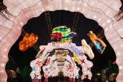 2013-Neujahrsfest-Laternenfestival und -tempel angemessen Lizenzfreies Stockfoto