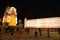 2013-Neujahrsfest-Laternenfestival und -tempel angemessen Stockbild