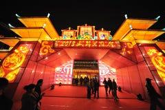2013-Neujahrsfest-Laternenfestival und -tempel angemessen Lizenzfreie Stockfotografie