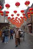2013 Neujahrsfest-Tempel angemessen in Chengdu Lizenzfreie Stockfotos