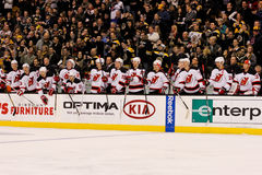 2013 New Jersey Devils bench Royalty Free Stock Images