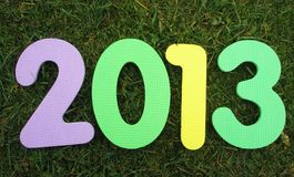 2013 New year. 2013 digits on the grass. New year´s eve Royalty Free Illustration