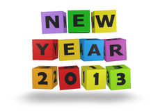 2013 New Year. Modeled with tridimensional color blocks vector illustration