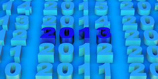2013 New Year. Modeled with tridimensional numbers Royalty Free Stock Image