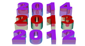 2013 New Year. Modeled with tridimensional numbers Royalty Free Stock Photography