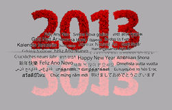 2013 New Year. Modeled with tridimensional blocks Royalty Free Stock Images