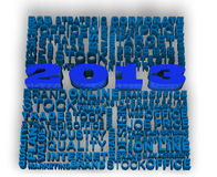 2013 New Year. Modeled with tridimensional numbers and business words Stock Images