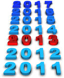 2013 New Year. Modeled with tridimensional numbers Royalty Free Stock Photos