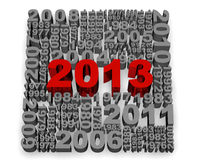 2013 New Year. Modeled with tridimensional numbers Stock Images