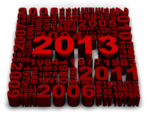 2013 New Year. Modeled with tridimensional numbers Stock Photography