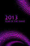2013 new year. Snake background Royalty Free Illustration