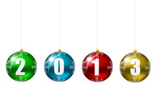 2013 new year. Illustration with christmas balls Stock Photo