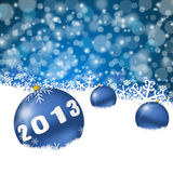 2013 new year. Illustration with christmas balls Royalty Free Stock Image