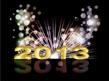 2013 new year. With beautiful background Royalty Free Illustration