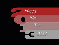 2013 new year. Illustration with 2013 numbers on black background Stock Image
