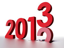 2013 New Year. 3D Illustration, Bye Old Year, Welcome 2013 royalty free illustration