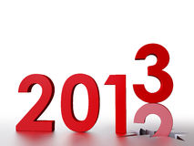 2013 New Year. 3D Illustration, Bye Old Year, Welcome 2013 Stock Photography