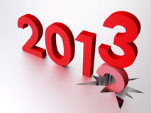 2013 New Year. 3D Illustration, Bye Old Year, Welcome 2013 Royalty Free Stock Photos
