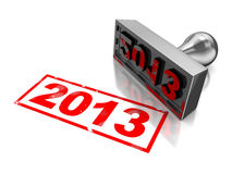 2013 new year. 3d illustration of red stamp with text 2013, new year concept Royalty Free Stock Photos