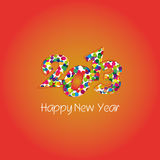 2013 new year. 2013 happy new year background Stock Images