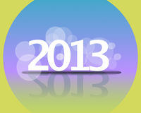 2013 New year background. With shadows and bubbles Stock Photo