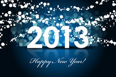 2013 - New year background. 2013 - blue New year background Stock Image