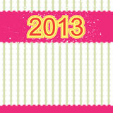 2013 new year banner. Retro design royalty free illustration