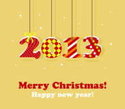 2013 new year card. 2013 new year greeting card Royalty Free Stock Image