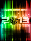 2013 New Year Celebration Background. Colorful 2013 New Year Celebration Background with Glitter and Rainbow Colours Stock Photography