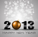 2013 New Year Celebration Background. With Glitter and Rainbow Colours Royalty Free Stock Photo