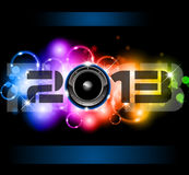 2013 New Year Celebration Background. Colorful 2013 New Year Celebration Background with Glitter and Rainbow Colours Royalty Free Stock Photos