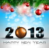 2013 New Year Celebration Background. With Glitter and Rainbow Colours royalty free illustration