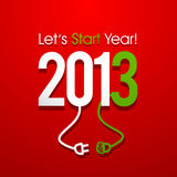 2013 New Year Concept Stock Photography