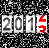 2013 New Year counter. Vector. Seamless pattern Stock Photo