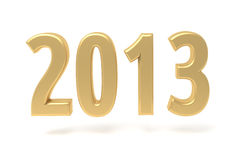 2013 New Year gold sign. Isolated on white royalty free illustration