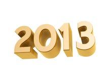 2013 new year golden symbol. Isolated on white background Stock Photos