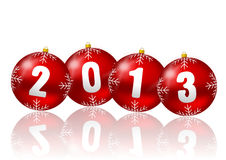 2013 new year illustration. With christmas balls Stock Image