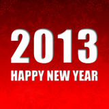 2013 new year illustration Royalty Free Stock Image