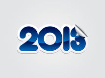 2013 New Year illustration. In editable vector format Stock Photo