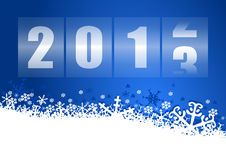 2013 new year illustration. With counter Stock Photos