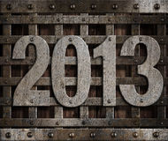 2013 new year metal. Illustration Royalty Free Stock Photo